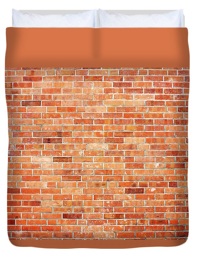 Toughness Duvet Cover featuring the photograph Brick Wall by Ballyscanlon