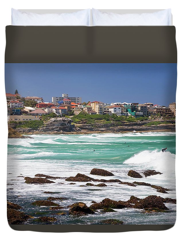 Suburb Duvet Cover featuring the photograph Bronte, Sydney, Australia by Peter Adams
