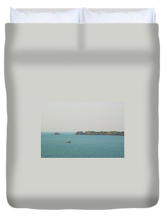 Scenics Duvet Cover featuring the photograph Cabo De Rama, Goa by Cranjam