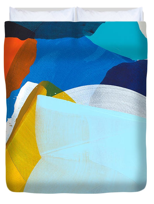 Abstract Duvet Cover featuring the painting California 05 by Claire Desjardins