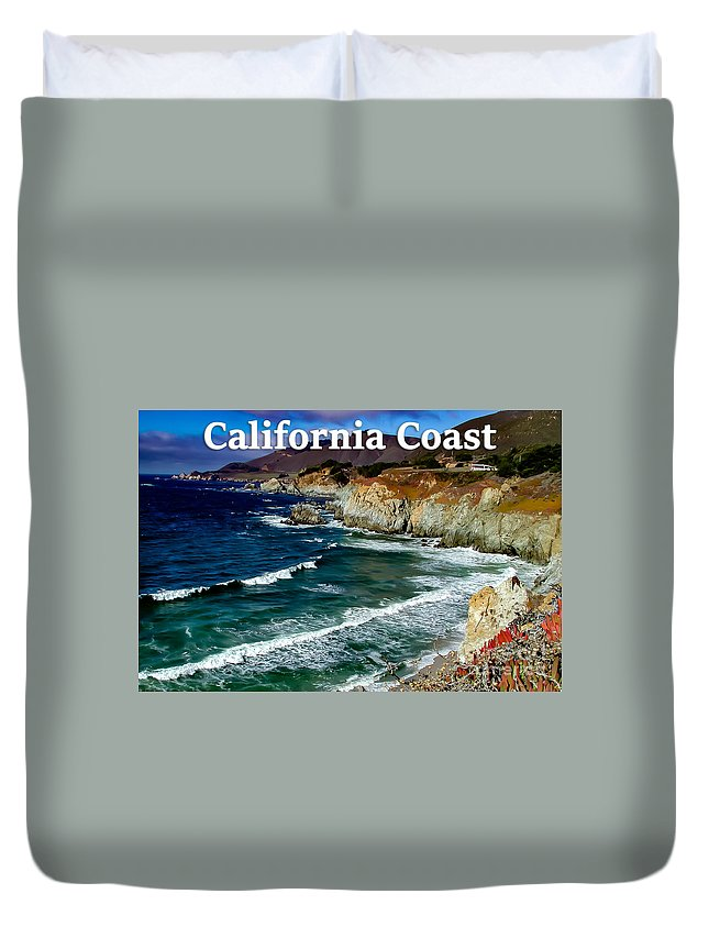 California Duvet Cover featuring the photograph California Coast In Mendocino County by G Matthew Laughton