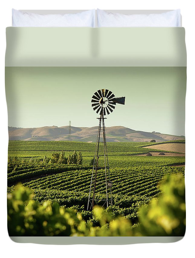 Sonoma County Duvet Cover featuring the photograph California Wine Country by Halbergman