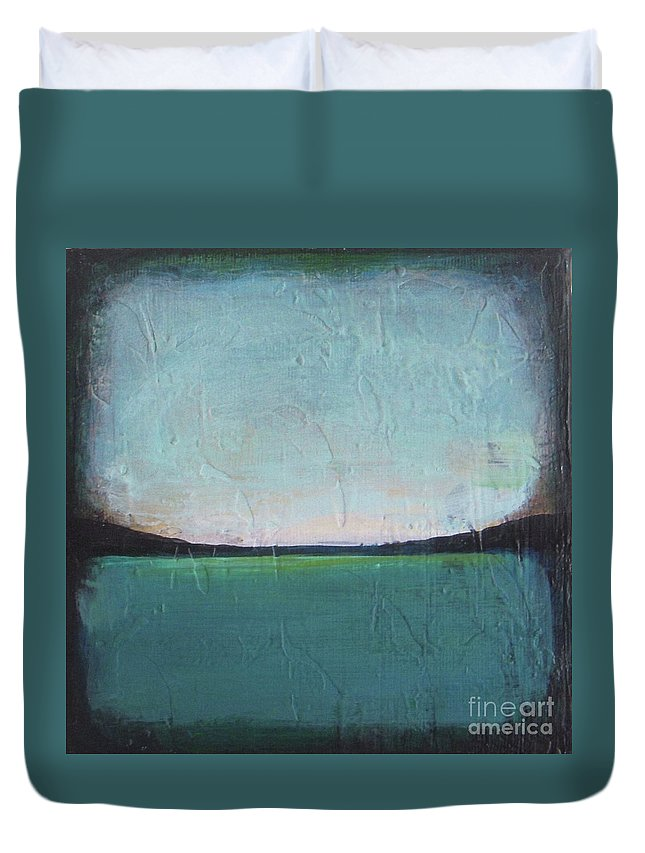 Ocean Duvet Cover featuring the painting Calm Ocean 1 by Vesna Antic