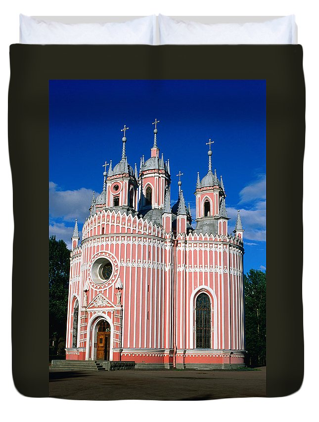 Gothic Style Duvet Cover featuring the photograph Candy Stripes Of Chesma Church, St by Lonely Planet