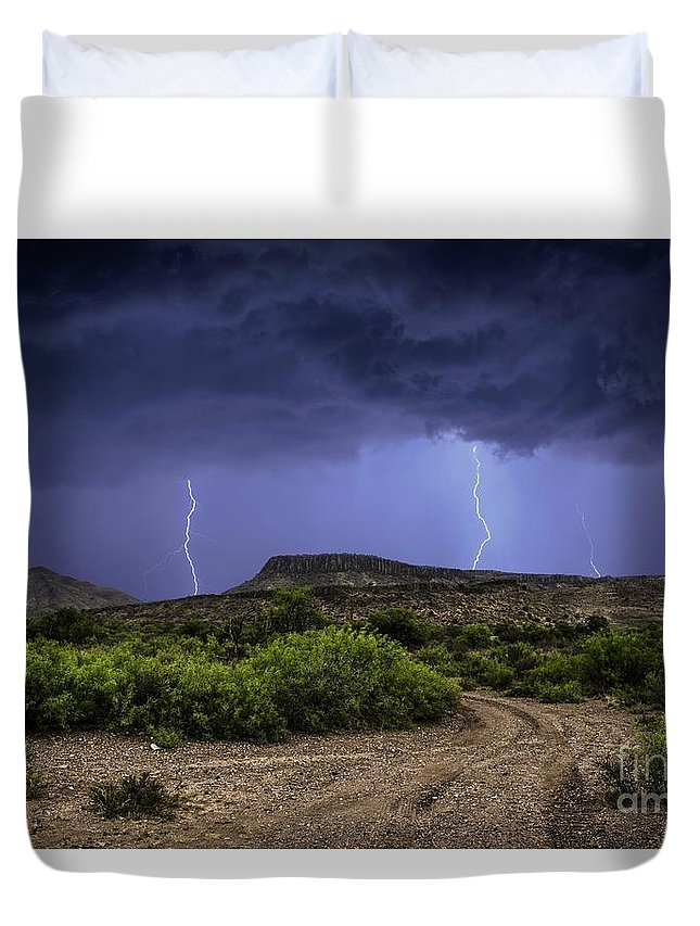 Duvet Cover featuring the photograph Canyon Lightning by Francis Lavigne-Theriault
