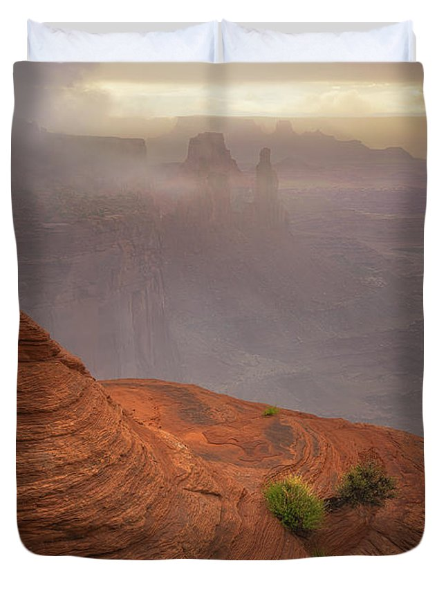 Utah Duvet Cover featuring the photograph Canyon Moods by Darren White