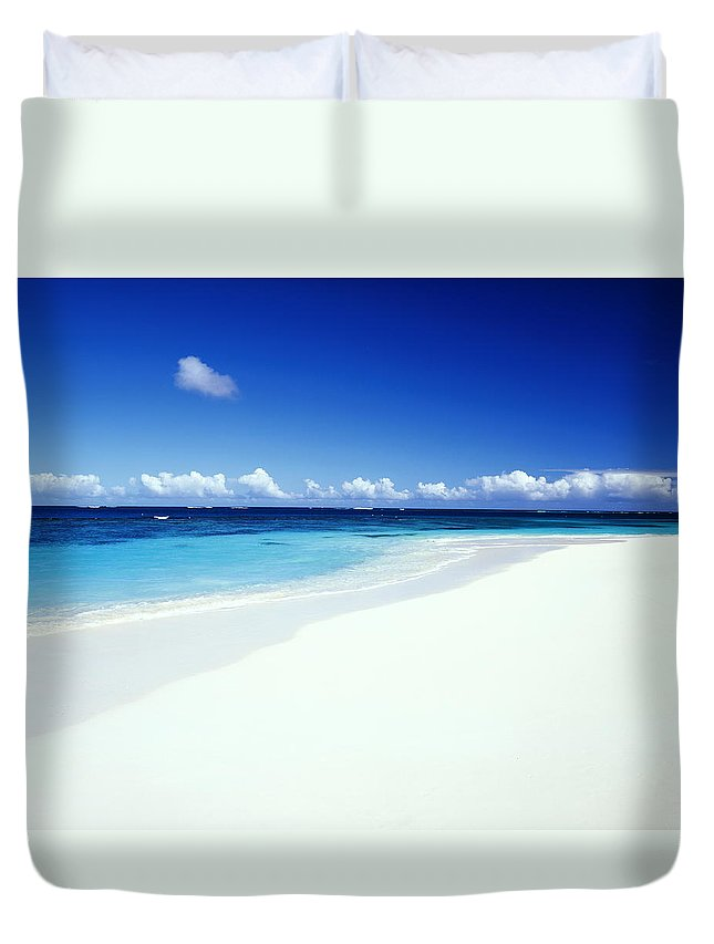 Scenics Duvet Cover featuring the photograph Caribbean Anguilla Shoal Bay Beach by Buena Vista Images
