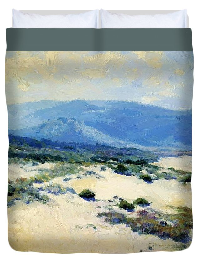 Carmel Duvet Cover featuring the painting Carmel Shore 1919 by Guy Rose