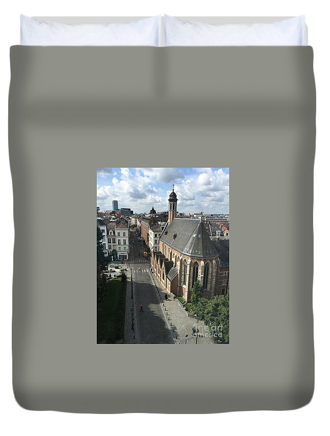 Brussels Duvet Cover featuring the photograph Charming Brussels by Carol Groenen