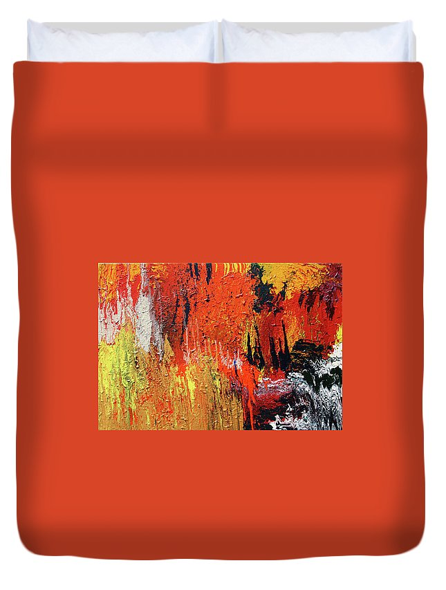 Fusionart Duvet Cover featuring the painting Chasm by Ralph White
