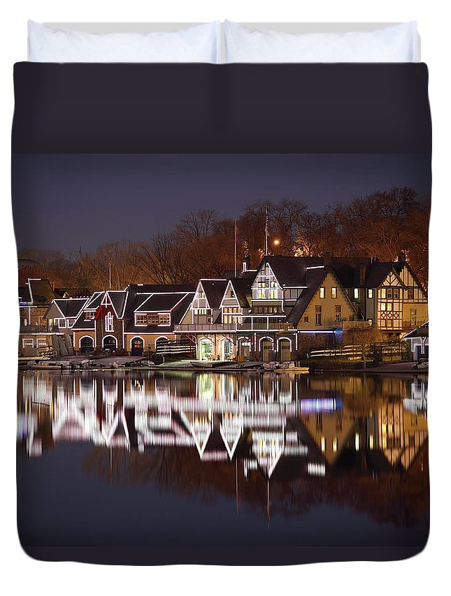 Holiday Duvet Cover featuring the photograph Christmas Lights by Denistangneyjr