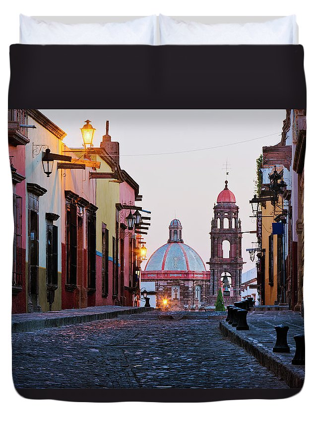 Latin America Duvet Cover featuring the photograph Church Of San Francisco, Looking Up by Jeremy Woodhouse