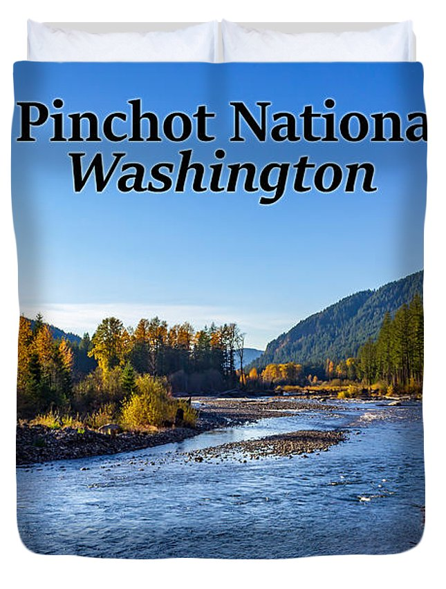 Cispus River Duvet Cover featuring the photograph Cispus River In The Gifford Pinchot National Forest, Washington State by G Matthew Laughton
