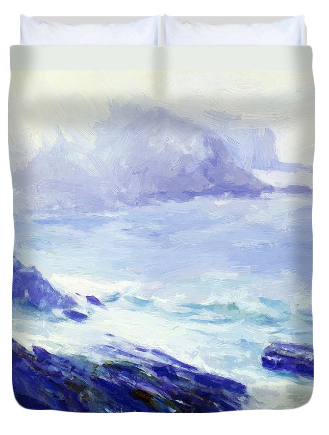 Coastline Duvet Cover featuring the painting Coastline by Guy Rose