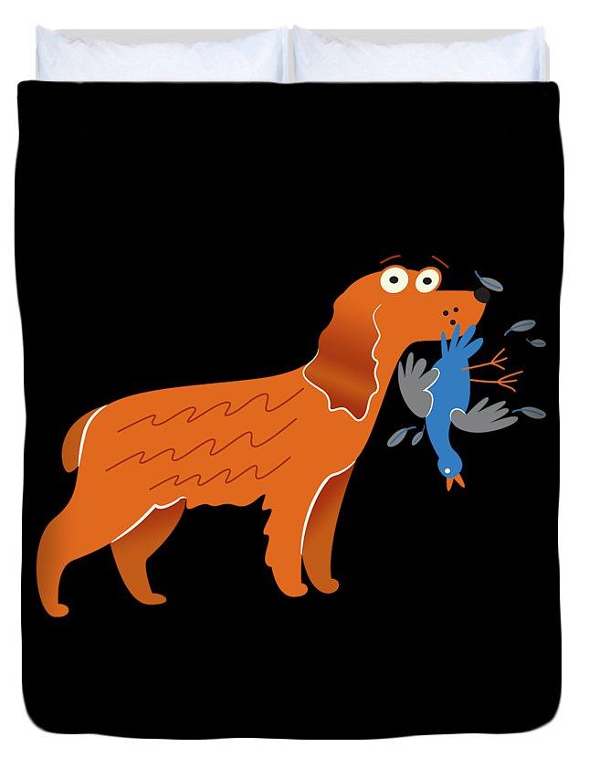 Best-cocker-spaniel Duvet Cover featuring the digital art Cocker Spaniel Gift Idea by DogBoo
