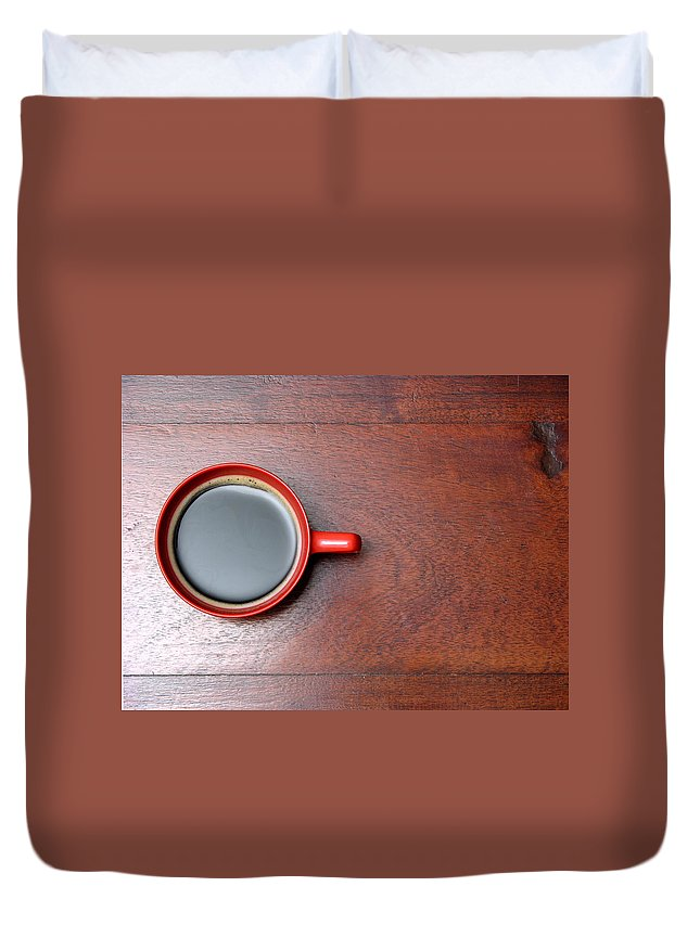Motivation Duvet Cover featuring the photograph Coffee Chill Out by Fotografiabasica