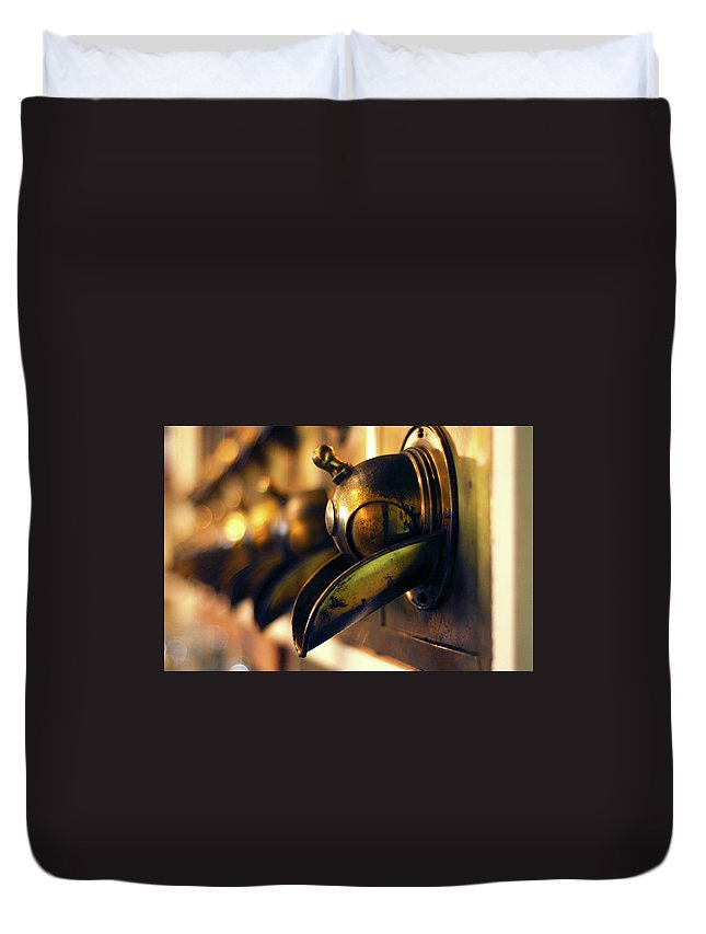 North Carolina Duvet Cover featuring the photograph Coffeemills by Dawn D. Hanna