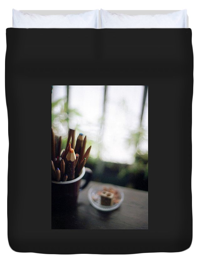 Osaka Prefecture Duvet Cover featuring the photograph Color Pencils by K-ko