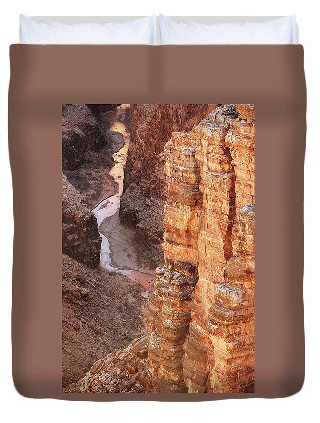 Water's Edge Duvet Cover featuring the photograph Colorado River Glen Canyon Gorge by Chuckschugphotography