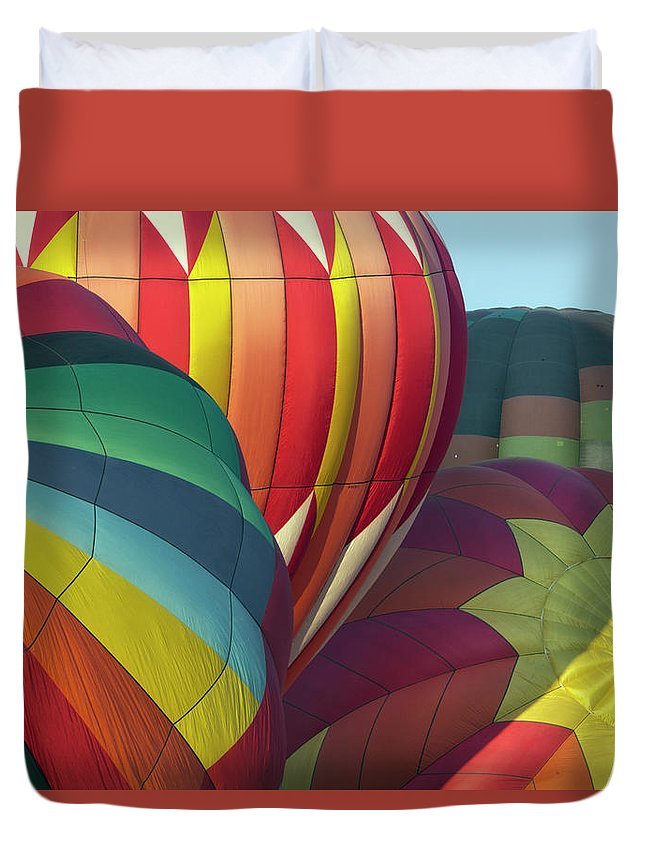 Celebration Duvet Cover featuring the photograph Colorful Inflation Balloon Race by Provided By Jp2pix.com