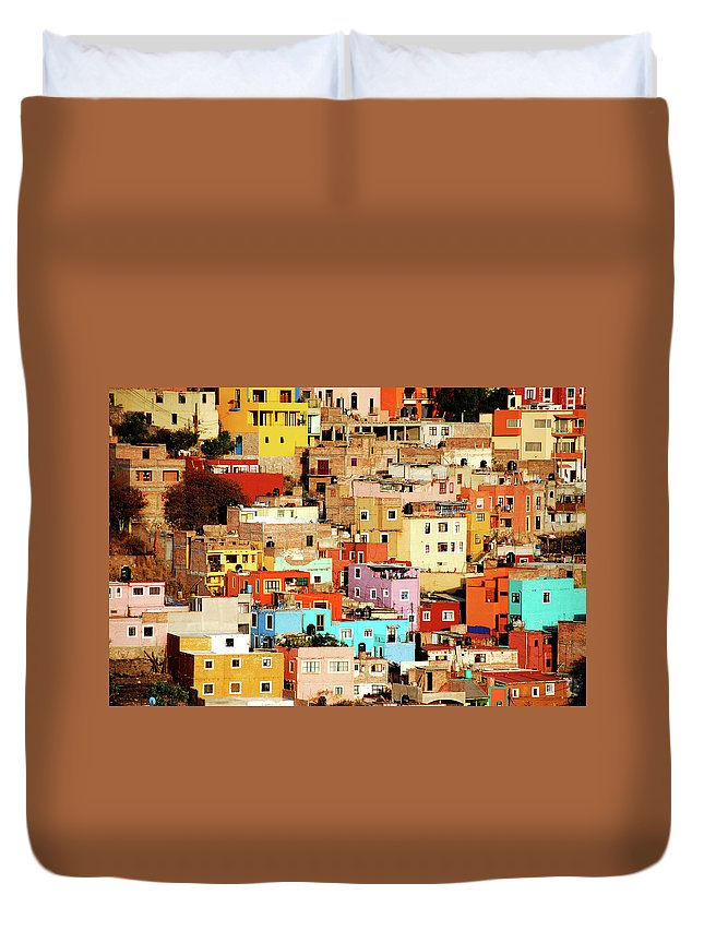 Tranquility Duvet Cover featuring the photograph Colors On Hill by Nan Zhong