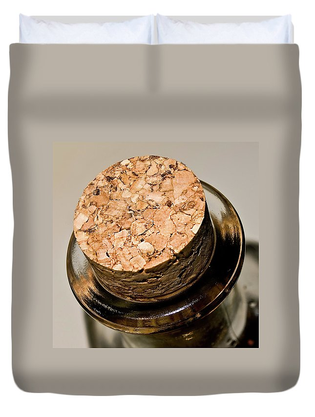 Alcohol Duvet Cover featuring the photograph Cork by Losrodri