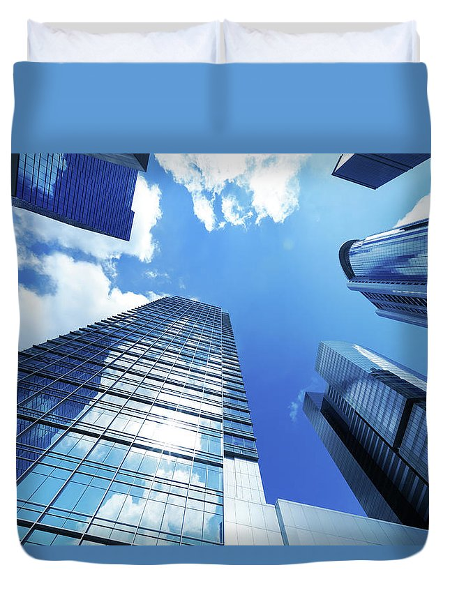 Corporate Business Duvet Cover featuring the photograph Corporate Building by Samxmeg