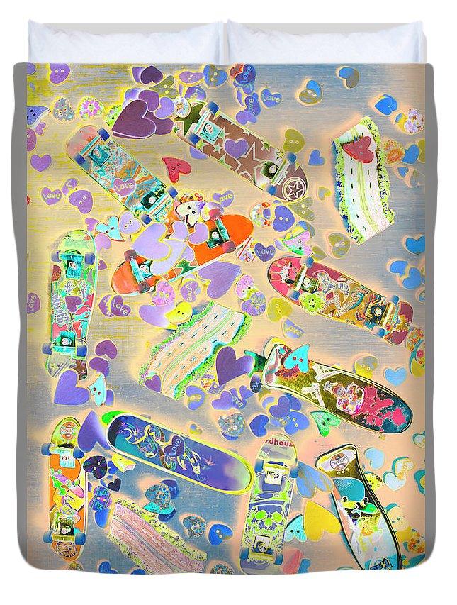 Pop Art Duvet Cover featuring the photograph Creative Skate by Jorgo Photography - Wall Art Gallery