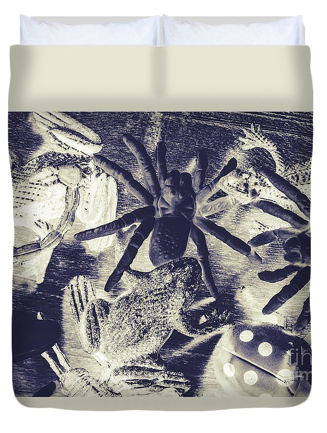 Wild Duvet Cover featuring the photograph Creatures Of The Night by Jorgo Photography - Wall Art Gallery