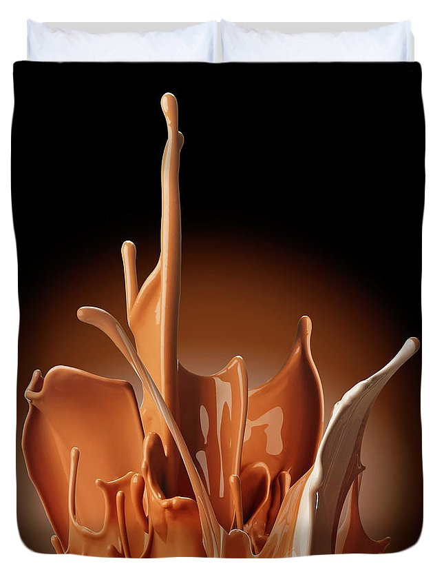 California Duvet Cover featuring the photograph Creme Brulee Splash by Jack Andersen