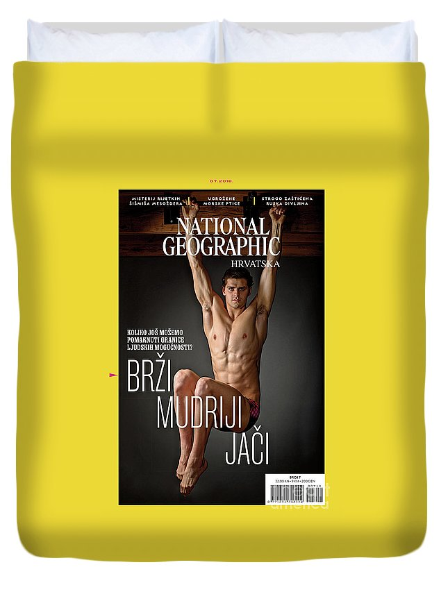 Duvet Cover featuring the photograph Croatian Cover Of The July 2018 National Geographic Magazine by Mark Thiessen