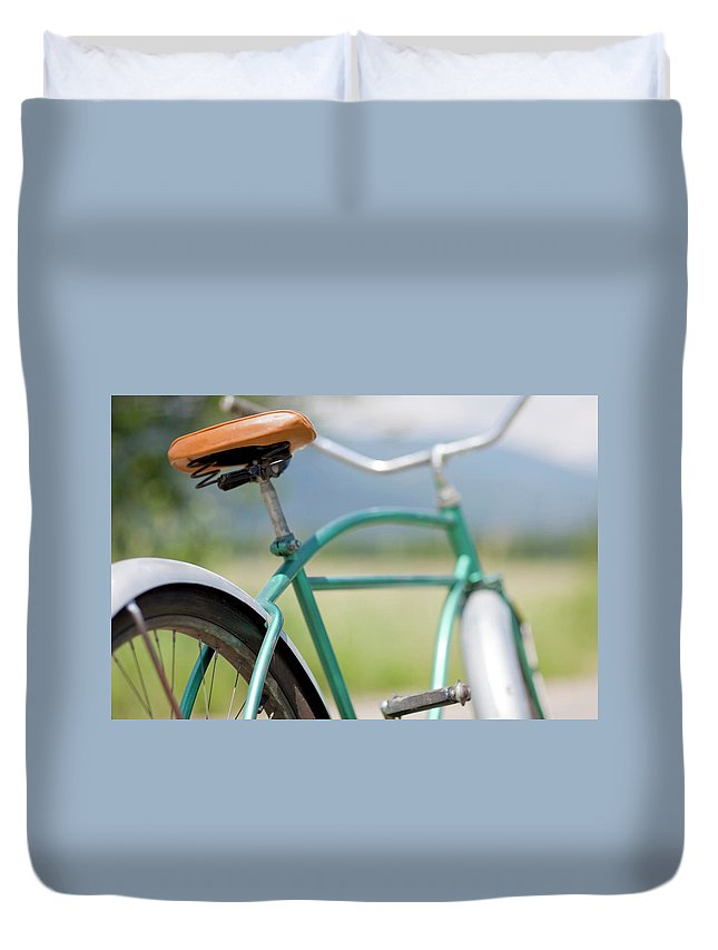 Tranquility Duvet Cover featuring the photograph Cruiser Bicycle by Rocksunderwater