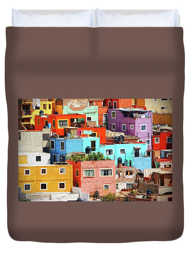 Stone Wall Duvet Cover featuring the photograph Cultural Colonial Cities Of Mexico by Www.infinitahighway.com.br