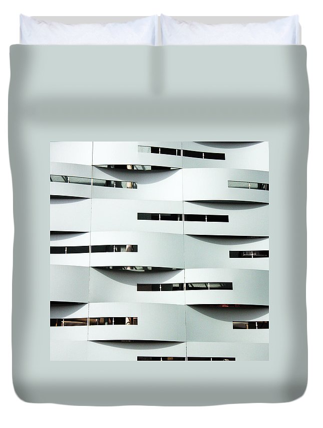 Curve Duvet Cover featuring the photograph Curvilinear by Neaz Ahmed