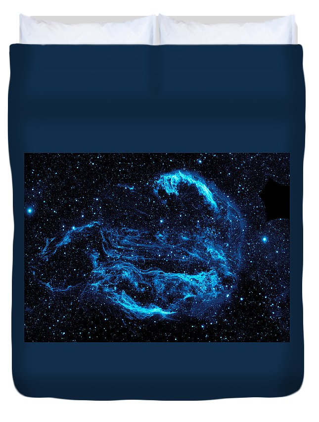 Space Nebula Universe Stars Planet Galaxy Milky Way Nasa Astronaut Science Telescope Hubble Cosmos Telescope Sci Fi Big Bang Physics Explore Exploration Spacex Rocket Launch Booster Sun Moon Stars Astronomy Duvet Cover featuring the digital art Cygnys Loop Nebula by Filip Hellman