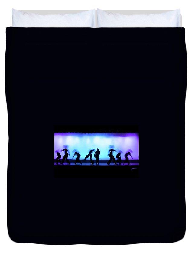 Ballet Dancer Duvet Cover featuring the photograph Dance Theater by Dansin