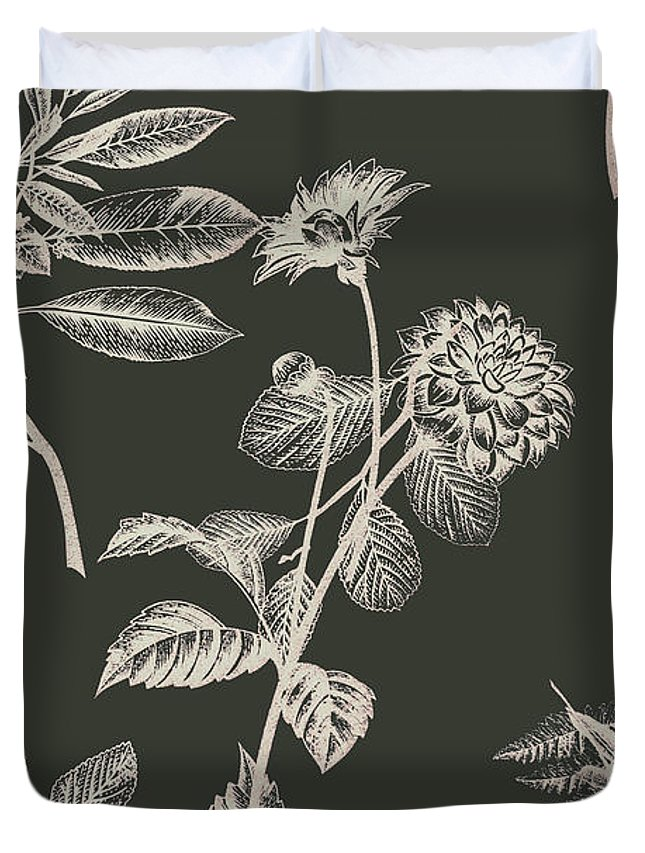 Floral Duvet Cover featuring the photograph Dark Botanics by Jorgo Photography - Wall Art Gallery