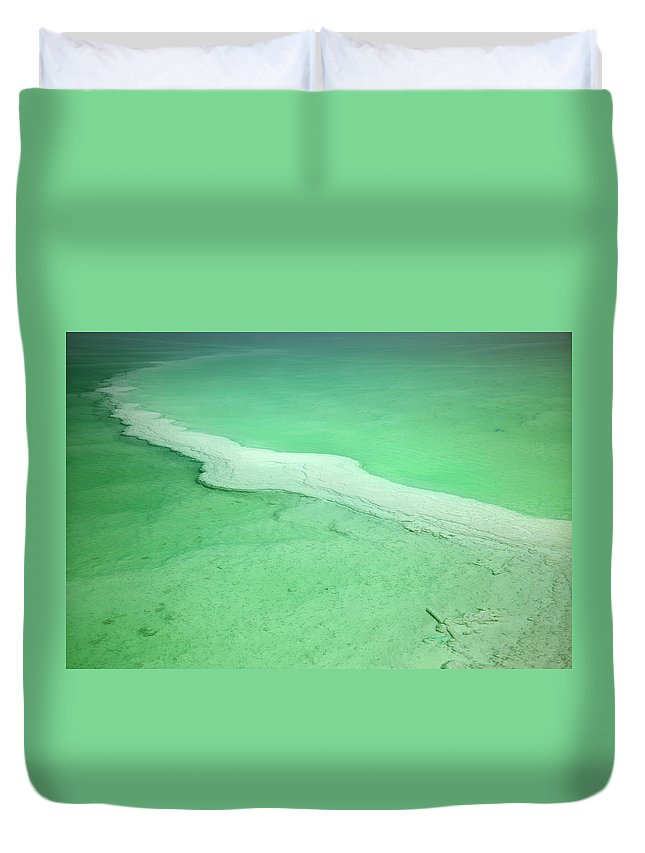 Mineral Duvet Cover featuring the photograph Dead Sea Water Surface by Eldadcarin