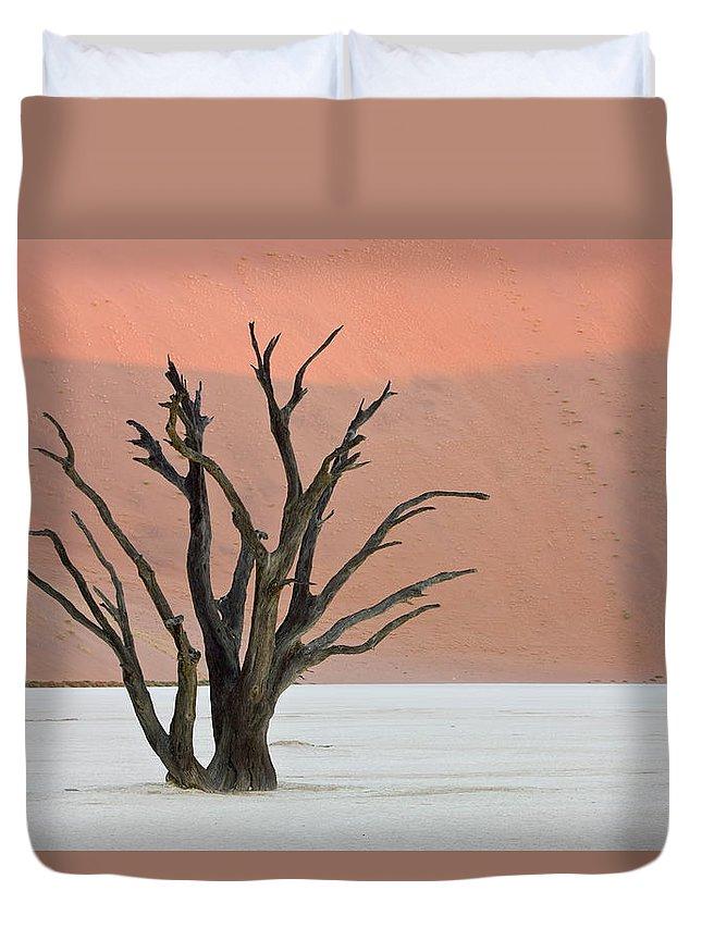 Scenics Duvet Cover featuring the photograph Dead Vlei Sossusvlei Africa Namibia by Thorsten Milse / Robertharding