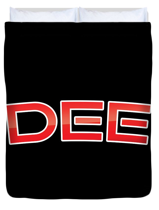 Dee Duvet Cover featuring the digital art Dee by TintoDesigns