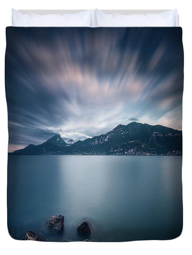 Kremsdorf Duvet Cover featuring the photograph Deep Blue Dawn by Evelina Kremsdorf