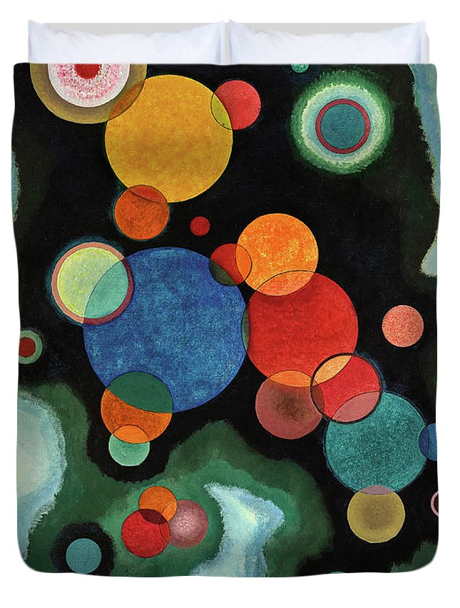 Kandinsky Deepened Impulse Duvet Cover featuring the painting Deepened Impulse - Vertiefte Regung by Wassily Kandinsky