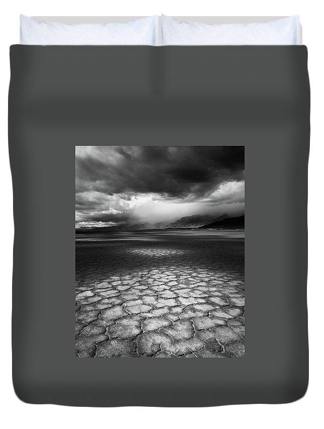 Outdoors Duvet Cover featuring the photograph Desert Storm by Tim Gallivan