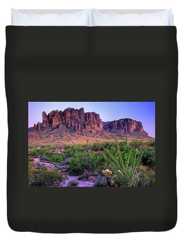 Tranquility Duvet Cover featuring the photograph Desert Trail by Patti Sullivan Schmidt