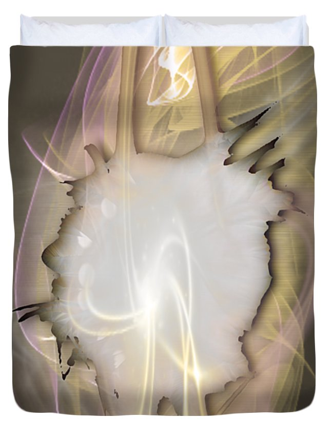 Dimensional Duvet Cover featuring the mixed media Dimensional by Marvin Blaine