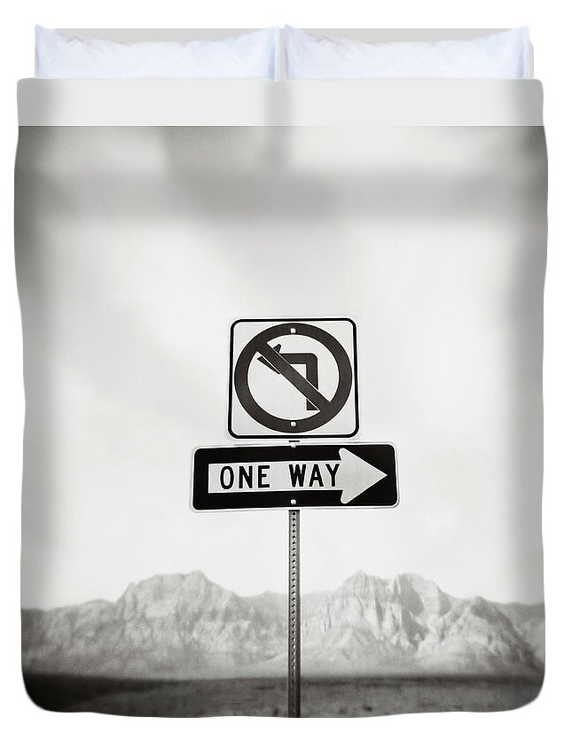 Non-urban Scene Duvet Cover featuring the photograph Directional Signs by David Madison