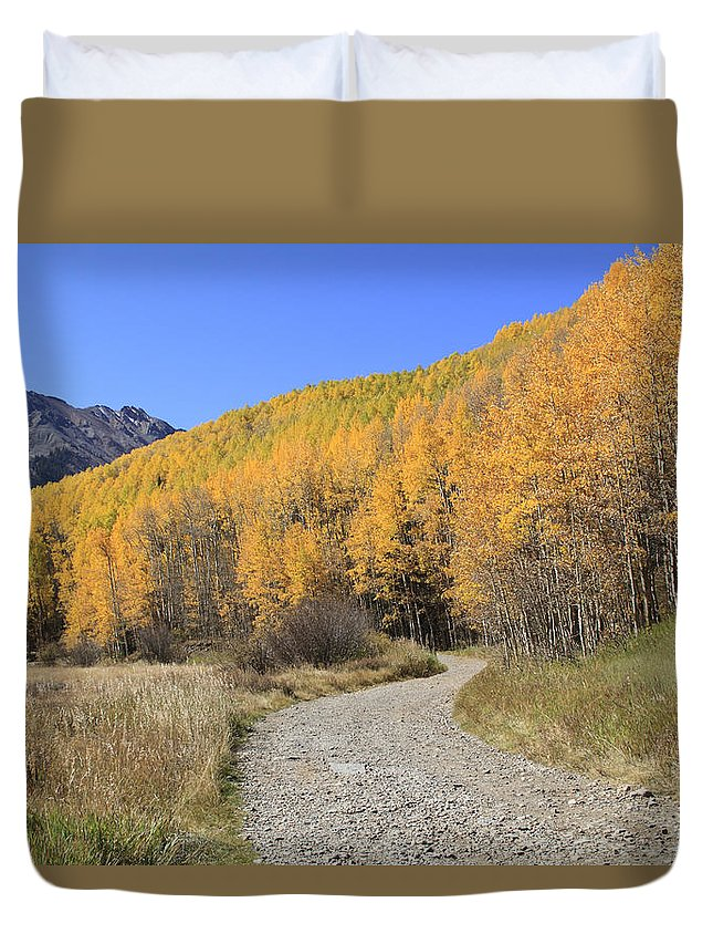 Scenics Duvet Cover featuring the photograph Dirt Road In The Elk Mountains, Colorado by John Kieffer