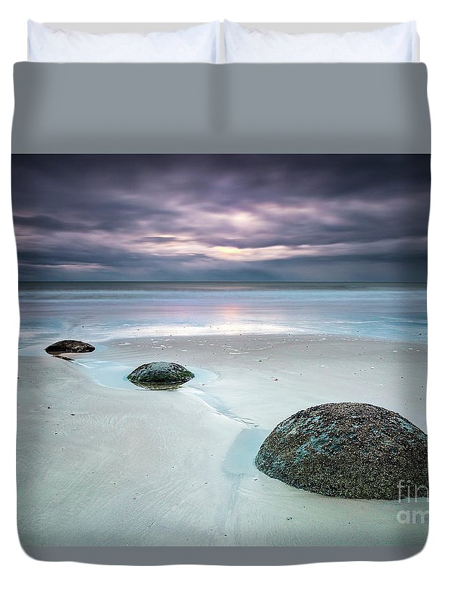Kremsdorf Duvet Cover featuring the photograph Distant Thunder by Evelina Kremsdorf