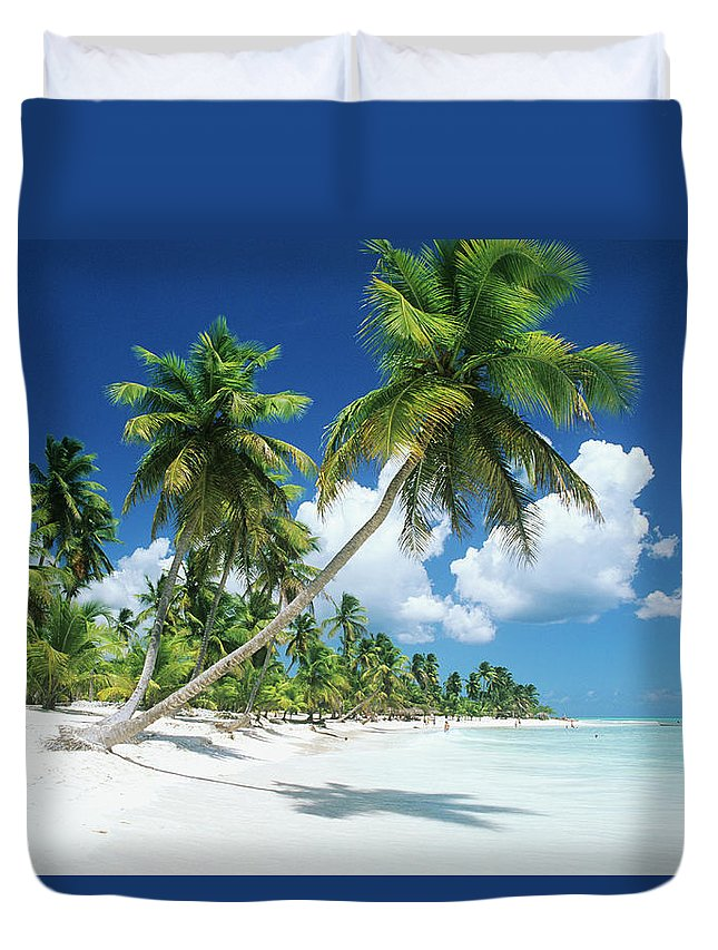 Scenics Duvet Cover featuring the photograph Dominican Republic, Saona Island, Palm by Stefano Stefani