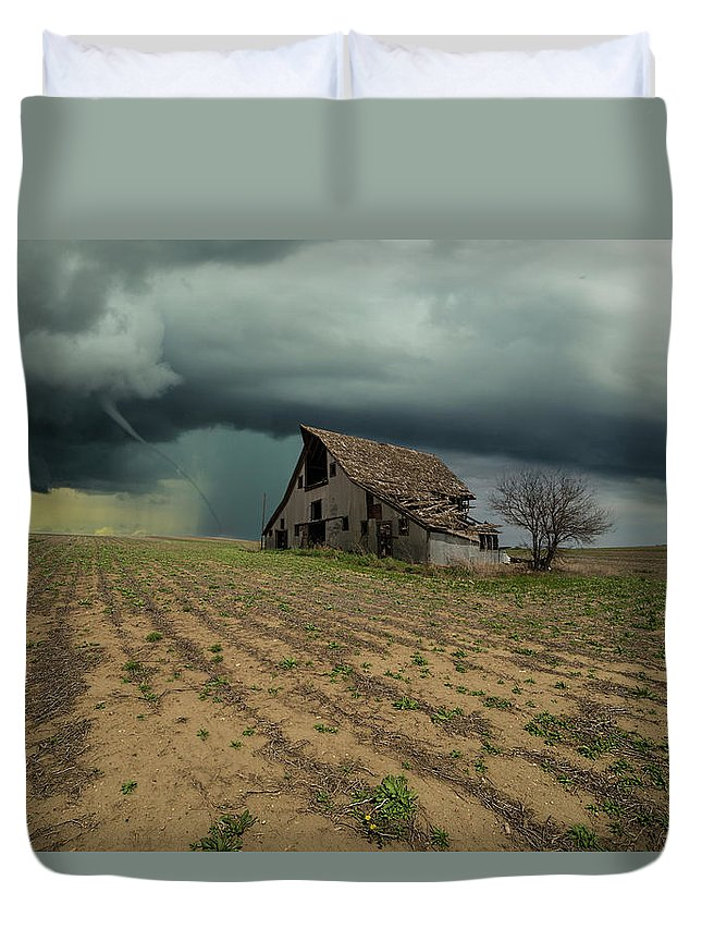 Tornado Duvet Cover featuring the photograph Doomsday by Aaron J Groen